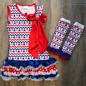 Other - Couldn't be cuter! Girls Flag July 4th outfit!